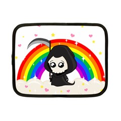 Cute Grim Reaper Netbook Case (small)  by Valentinaart
