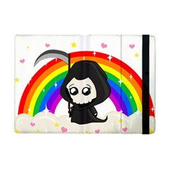 Cute Grim Reaper Apple Ipad Mini Flip Case by Valentinaart
