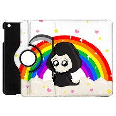 Cute Grim Reaper Apple Ipad Mini Flip 360 Case by Valentinaart