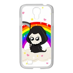 Cute Grim Reaper Samsung Galaxy S4 I9500/ I9505 Case (white) by Valentinaart