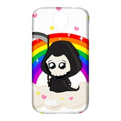 Cute Grim Reaper Samsung Galaxy S4 Classic Hardshell Case (pc+silicone) by Valentinaart