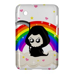 Cute Grim Reaper Samsung Galaxy Tab 2 (7 ) P3100 Hardshell Case  by Valentinaart