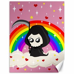 Cute Grim Reaper Canvas 18  X 24   by Valentinaart