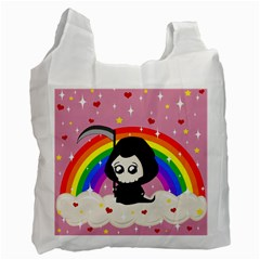 Cute Grim Reaper Recycle Bag (one Side)