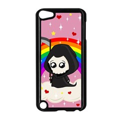 Cute Grim Reaper Apple Ipod Touch 5 Case (black) by Valentinaart