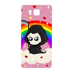 Cute Grim Reaper Samsung Galaxy Alpha Hardshell Back Case by Valentinaart