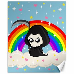 Cute Grim Reaper Canvas 16  X 20   by Valentinaart