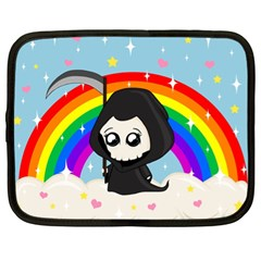 Cute Grim Reaper Netbook Case (xl)  by Valentinaart