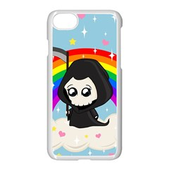 Cute Grim Reaper Apple Iphone 8 Seamless Case (white)