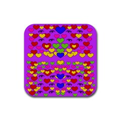 I Love This Lovely Hearty One Rubber Coaster (square)  by pepitasart