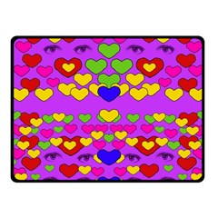 I Love This Lovely Hearty One Fleece Blanket (small) by pepitasart