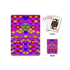 I Love This Lovely Hearty One Playing Cards (mini)  by pepitasart
