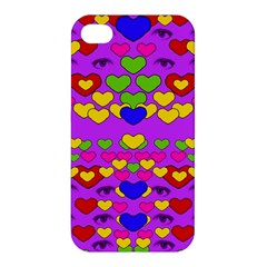 I Love This Lovely Hearty One Apple Iphone 4/4s Premium Hardshell Case by pepitasart