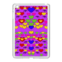 I Love This Lovely Hearty One Apple Ipad Mini Case (white) by pepitasart