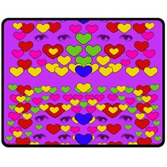 I Love This Lovely Hearty One Double Sided Fleece Blanket (medium)  by pepitasart