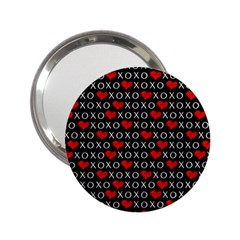 Xoxo Valentines Day Pattern 2 25  Handbag Mirrors by Valentinaart