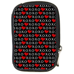 Xoxo Valentines Day Pattern Compact Camera Cases by Valentinaart