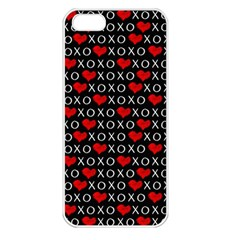 Xoxo Valentines Day Pattern Apple Iphone 5 Seamless Case (white) by Valentinaart