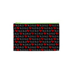 Xoxo Valentines Day Pattern Cosmetic Bag (xs) by Valentinaart