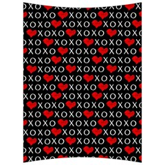 Xoxo Valentines Day Pattern Back Support Cushion by Valentinaart