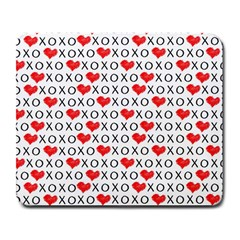 Xoxo Valentines Day Pattern Large Mousepads by Valentinaart
