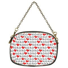 Xoxo Valentines Day Pattern Chain Purses (two Sides)  by Valentinaart