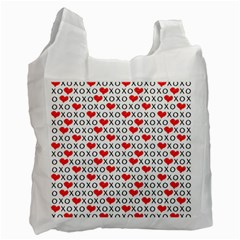 Xoxo Valentines Day Pattern Recycle Bag (two Side)  by Valentinaart