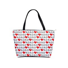 Xoxo Valentines Day Pattern Shoulder Handbags by Valentinaart