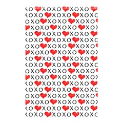 Xoxo Valentines Day Pattern Shower Curtain 48  X 72  (small)  by Valentinaart