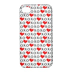 Xoxo Valentines Day Pattern Apple Iphone 4/4s Hardshell Case With Stand