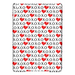 Xoxo Valentines Day Pattern Ipad Air Hardshell Cases by Valentinaart