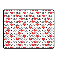 Xoxo Valentines Day Pattern Double Sided Fleece Blanket (small)  by Valentinaart