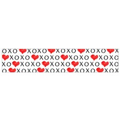 Xoxo Valentines Day Pattern Small Flano Scarf by Valentinaart