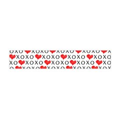 Xoxo Valentines Day Pattern Flano Scarf (mini)