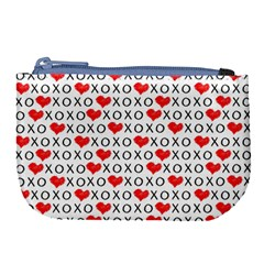Xoxo Valentines Day Pattern Large Coin Purse by Valentinaart