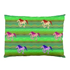 Rainbow Ponies Pillow Case (two Sides) by CosmicEsoteric