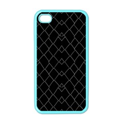 Black And White Grid Pattern Apple Iphone 4 Case (color) by dflcprints