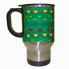 Love Is In All Of Us To Give And Show Travel Mugs (white) by pepitasart