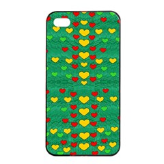 Love Is In All Of Us To Give And Show Apple Iphone 4/4s Seamless Case (black) by pepitasart