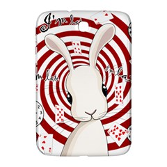 White Rabbit In Wonderland Samsung Galaxy Note 8 0 N5100 Hardshell Case  by Valentinaart