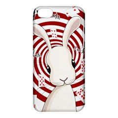 White Rabbit In Wonderland Apple Iphone 5c Hardshell Case by Valentinaart