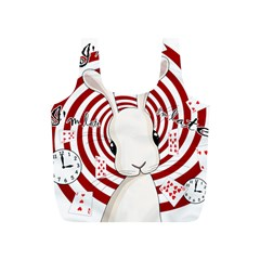 White Rabbit In Wonderland Full Print Recycle Bags (s)  by Valentinaart