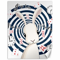 White Rabbit In Wonderland Canvas 12  X 16   by Valentinaart