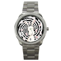 White Rabbit In Wonderland Sport Metal Watch