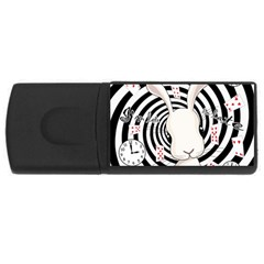 White Rabbit In Wonderland Rectangular Usb Flash Drive