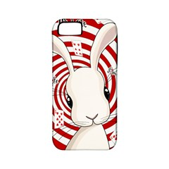 White Rabbit In Wonderland Apple Iphone 5 Classic Hardshell Case (pc+silicone) by Valentinaart
