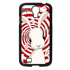 White Rabbit In Wonderland Samsung Galaxy S4 I9500/ I9505 Case (black) by Valentinaart