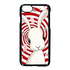 White Rabbit In Wonderland Apple Iphone 8 Seamless Case (black) by Valentinaart