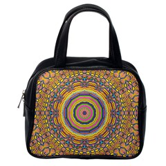 Wood Festive Rainbow Mandala Classic Handbags (one Side) by pepitasart