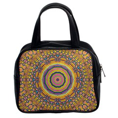 Wood Festive Rainbow Mandala Classic Handbags (2 Sides) by pepitasart